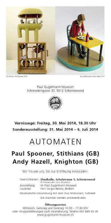 Flyer special exhibition Paul Gugelmann Museum 2014